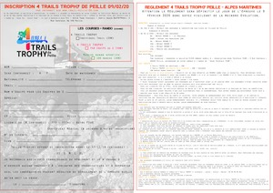 Flyer 4 Trails TROPHY de Peille 2020